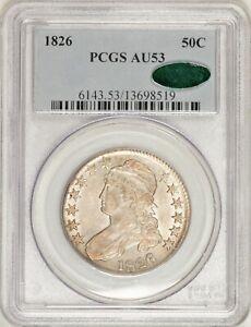 1826 Capped Bust Half Dollar O-114 R4+ PCGS AU53 CAC Tough Overton! #BXV8