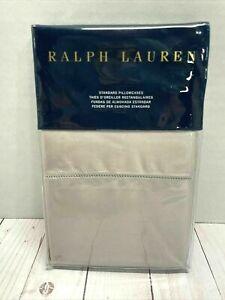 Ralph Lauren RL 624 Solid Sateen Standard Pillowcases NWT Vintage Silver