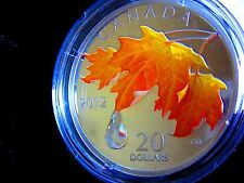 Fine Silver Coin - Sugar Maple Crystal Raindrop - Mintage: 10,000 (2012)