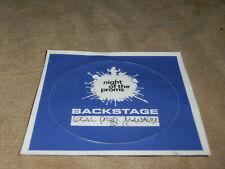 NIGHT OF THE PROMS Local Crew Backstage Pass blau gebraucht/used