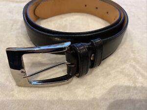 Pal Zileri Black Leather Belt Size 125