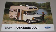 Auto Prospekt Katalog Ford Transit Motorcaravan Concorde 500 Januar 1984