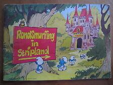 Plakalbum Rondsmurfing in stripland BP uit 1972 (compleet)/beschadigd zie foto's