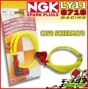 NGK LY11 CAPPUCCIO PIPETTA ATTACCO CANDELA CON CAVO IN SILICONE RACING PER MOTO