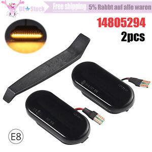 2x Seitenblinker schwarz LED Blinker für VW GOLF PASSAT LUPO T5 SEAT LEON IBIZA