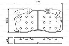 Bremsbelagsatz, Scheibenbremse für Bremsanlage Vorderachse BOSCH 0 986 494 257