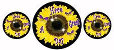 "3- Sunflower Butterflies Vinyl Decal Bumper Stickers Gifts Ladies Girls 4"" & 2"""