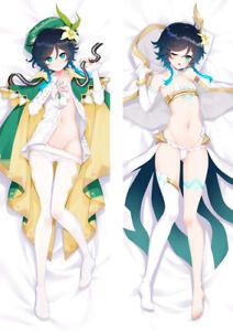 "Genshin Impact Venti Dakimakura Anime Hugging Body Pillow Cover Case 150x50 59"""