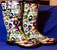 "TOKIDOKI ""Discoteca"" Rubber Rain Boots by Chooka US Women's Sz 9"