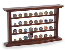 Freedom Display Cases Mahogany Box Holder Military Challenge Coin Display Case