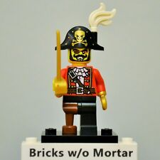 New Genuine LEGO Pirate Captain Minifig with Sword Series 8 8833