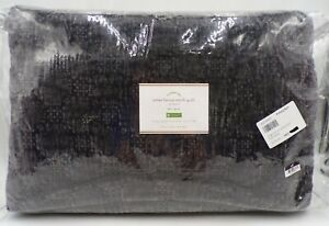 Pottery Barb Velvet Lattice Quilt Luxe Cotton Soft Full Queen Gray READ #315