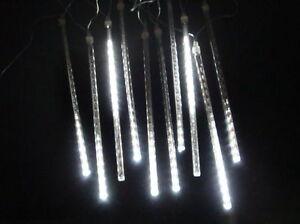 Lichterregen mit 180 LED Schneefall-Meteor Effekt Schneeregen Lichterkette