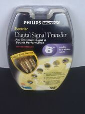 Phillips 6ft Stereo Audio + S Video Cable 24k Gold