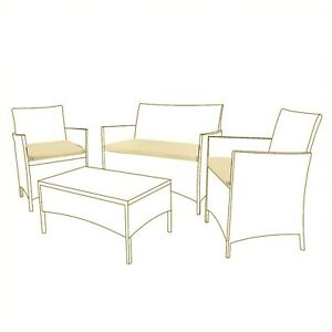 Replacement Cushions Set 3Piece Garden Furniture to Fit Rattan Chair Patio BEIGE