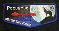 NEW! OA POCUMTUC LODGE 83 WESTERN MASSACHUSETTS COUNCIL MA BSA PATCH BLUE FLAP