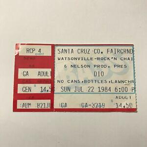 Dio Santa Cruz County Fairgrounds California Concert Ticket Stub Vintage 1984