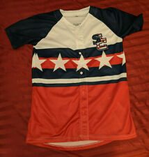 Syracuse Chiefs Replica Jersey SGA USA FLAG RED WHITE BLUE YOUTH XL EXTRA LARGE
