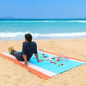 270x210cm Stranddecke, Wasserabweisende Picknickdecke Campingdecke Strandtuch