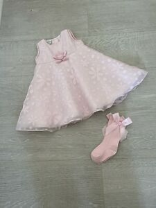 Pretty Originals Baby Girls Pink Dress Age 12 Months