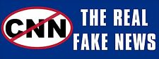 3x8 inch No CNN The Real FAKE NEWS Bumper Sticker - pro trump anti main stream