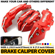 4Pcs Red 3D Brake Caliper Covers Style Disc Universal Car Front Rear L+S CY2
