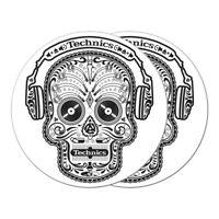 DMC & Technics - Skull Slipmat White