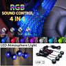 USB Car LED Atmosphere Lamp Sound Control Interior Ambient Star Light Decoration