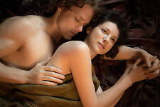 12x18 Panoramic High Luster Outlander Claire Randall  Jamie in Love Photo Print