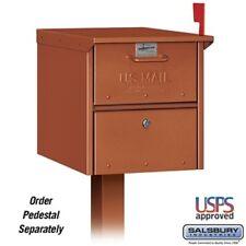 Salsbury Industries Designer Roadside Mailbox - Copper-MAILBOX 4325D-COP NEW