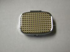 Pill Box, Beige Geometric Design, 2 Compartment, Brand New