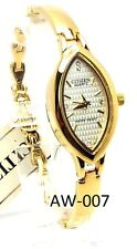 New Citizen Ladies Classic Gold-tone 06 Genuine-Crystals, Oval-dial Dress Watch