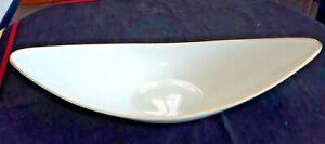 "L👀K  Lenox 15 1/2"" Long Banana Boat Console Centerpiece Dish 24K Gold Trim Rim"
