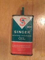Empty SINGER SEWING MACHINE OIL 4 oz. Tin Can Without Lid