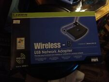 New in Box Linksys Wireless-B Router, USB Network Adaptor,# WUSB11 or (802.11b)