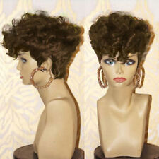 Women's Africa Curly Synthetic Wig Short Side Bang Shaggy Layered Afro Curly Wig