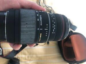Canon EOS 600D 18.0 MP Digital SLR Camera - Bag Kit EF-S 18-55mm Sigma 70-300MM