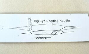 Beading Accessories - 2 Big Eye Needles Enabling Easy Threading for Fine Needles