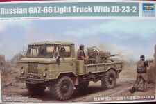 TRUMPETER 01017 RUSSIAN GAZ-66 LIGHT TRUCK WITH ZU-23-2 1:35 MODELLBAUSATZ NEU