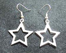 Cute New Tibetan Silver Star Charm Dangle Drop Earrings