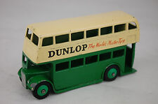 "Dinky 29C Double Decker Bus ""Dunlop"" Type 3 Leyland Grill 1954 4"" Long Near Mint"