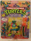 Vintage Teenage Mutant Ninja Turtles Mike The Sewer Surfer Figure Unpunched TMNT