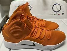 Nike Zoom Hyperdunk X Mid Court Mens Size 19 Orange Basketball Shoes AT3866-804
