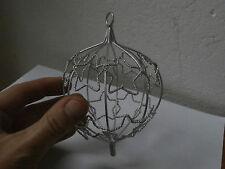 Palla decorazione albero Natale ferro lavorato a mano Christmas iron ball 13 x 9