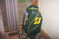 BRAND NEW Limited Edition Bridgestone 2017 Masters Green Mini Staff cart bag