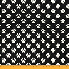 Soimoi Moss Georgette Fabric Dog Foot 130 GSM Wide Material By By Metre