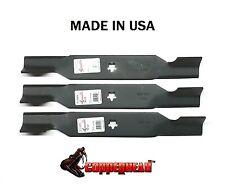 "Set of 3 Hi Lift Blades Fits 54"" Deck 187254 187256 532187256  USA MADE"