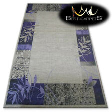 "AMAZING RUGS ""BOLOGNA"" purple, frame, modern designs carpet, easy to clean"