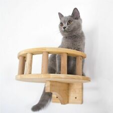 Pet Furniture Wooden Climbing Frame Cat Wall Steps Cat Tree Tower Wall Hanging