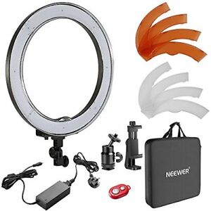 Neewer 18-inch Outer Dimmable SMD LED Ring Light Lighting Kit with Color Phone